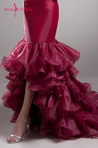 spalline rosso senza Emily Raso Vino a Fishtail Beauty treno strati qITOxvww