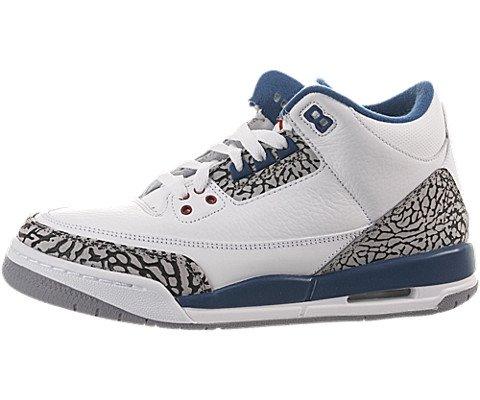 Air Jordan 3 Retro (Gs) 398614-104 (White / True Blue) 5.5Y D(M) US by Jordan