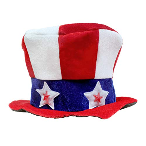 LED Uncle Sam Patriotic Hat with Stars ()
