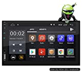 Favoto Car Stereo Double Din Android GPS Navigation 1024x600P 7 Inch Capacitive Touch Screen in Dash Multimedia Car Radio Support WiFi Mirror Link Bluetooth Reverse Image AM FM USB AUX TF Car Audio