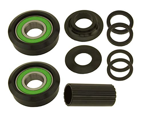 (Alta Bicycle Bottom Bracket Set American Kit Spindle Type 19mm in Black)