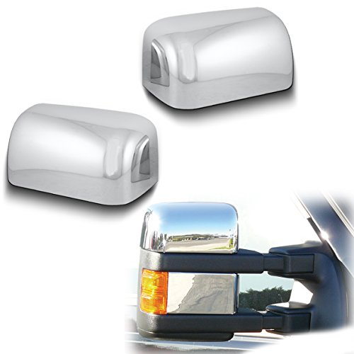 AutoModZone Chrome ABS Telescopic Mirror Upper Top Half Mirror Cover for 08-16 Ford F-250 / F-350 / F-450 SuperDuty