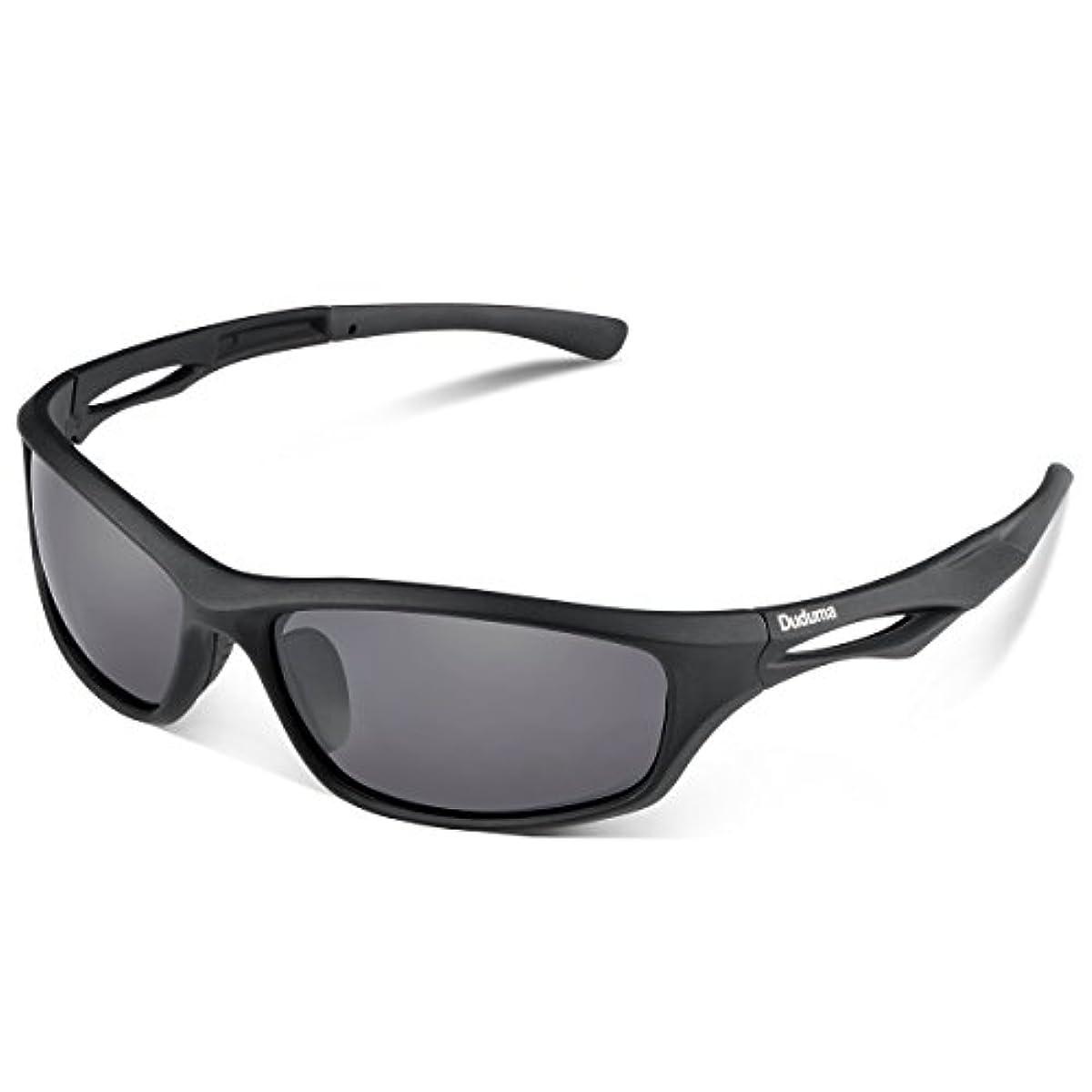 [해외] DUDUMA 편광 렌즈 맨즈 스포츠 썬글라스 초경량 UV400 자외선을 컷 스포츠 썬글라스/ 자전거/낚시/야구/테니스/골프/스키/런닝/드라이기이브 TR90