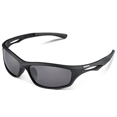 Duduma Polarized Sports Sunglasses for Running Cycling Fishing Golf Tr90 Unbreakable Frame (black matte frame with black - Mens Polarized Sunglasses