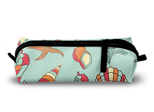 Seahorse Painting Charm School Pencil Pouch Case with Creative 3D ()