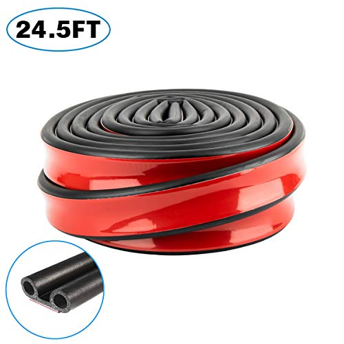 24.6ft Adhesive Tailgate Weather Stripping Ultimate Tailgate Seals Kit for Pickups, F150, Truck, Silverado, Auto Car, Keep Kit Dust, Dirt and Moisture Out of Covered Truck Bed Trim Gap Rubber
