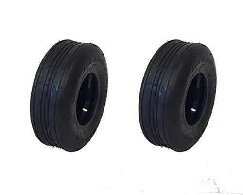 MowerPartsGroup (2) Puncture Resistant 11x4.00-5 Ribbed Tires with Liner Gravely Toro - Ribbed Tires