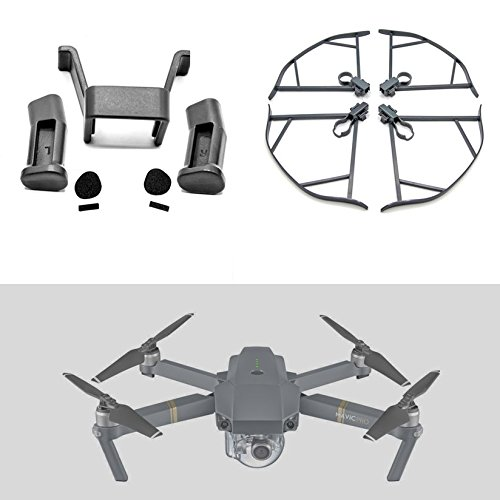 Leg Prop (MAVIC PRO PROTECTION KIT Includes Landing Gear Legs Extenders + Prop Guards (Set of 4) Propeller Protectors For DJI Mavic Pro Drone)