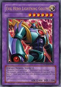 Yu-Gi-Oh! - Evil Hero Lightning Golem (GLAS-EN039) - Gladiators Assault - Unlimited Edition - Ultra Rare