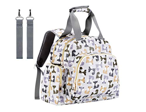 Baby Diaper Bag,IHONEY Large Capacity Multi-Function Mom Tote Diaper Bag Backpack for Boys and Girls with Shoulder Strap,Insulated Pockets & Stroller Straps