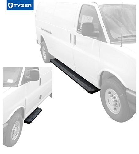 Tyger Auto TG-RB2C1101B Running Boards Chevrolet Express 03-19 GMC Savanna 1500/2500/3500 (Full Size) Cargo Van (Driver 37