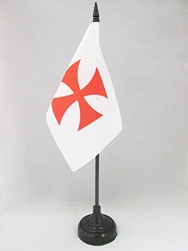 AZ FLAG Drapeau de Table Templiers Ordre du Temple 15x10cm