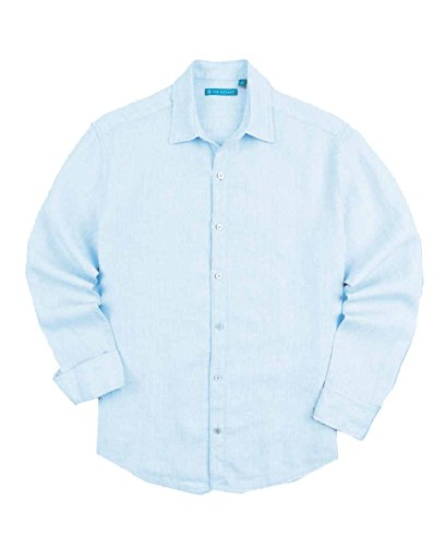 Tori Richard Men's Biscayne Long-Sleeve Relaxed-Fit Shirt (Blue, Small) by Tori Richard