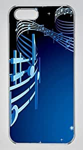 Abstract Musical Notation DIY Hard Shell Transparent Best Designed iphone 4s Case