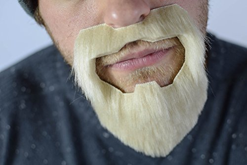 [The 'Cut' fake stick-on fancy dress beard/goatee from Super-Stache - Blonde] (Braveheart Fancy Dress Costume)
