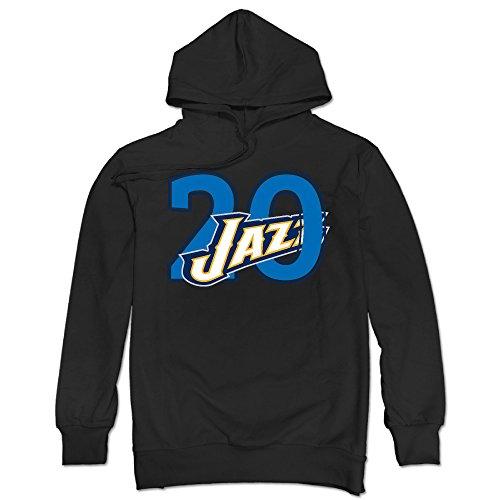 Men's Gordon #20 Basketball Hayward Long Sleeve Hood Sweatshirt Size XXL Black