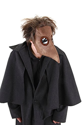 Elope Bubonic Plague Doctor Costume Mask Brown ()
