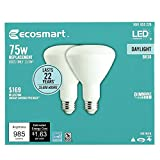 EcoSmart 75-Watt Equivalent BR30 Dimmable LED Light Bulb Daylight (4-Pack)