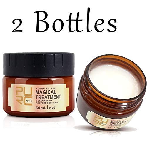 2Pcs Hair Treatment Mask, Natural Ingredients, Deep Conditioner for Dry or Damaged Hair, Hair Care, Repair Damaged Hair Root Hair Keratin Hair and Scalp Treatment, For All Hair Types, Men & Women (The Best Hair Conditioner For Dry Damaged Hair)