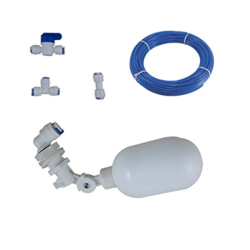 Float System - Plastic Adjustable Float Valve for Aquarium Water purifiers Reverse Osmosis System (Type1, 1/4inch)