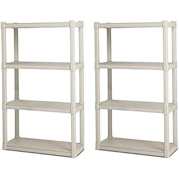 Amazon Com Sterilite Premium Heavy Duty 4 Shelf Storage