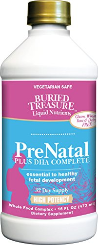 Buried Treasure Prenatal Plus DHA Complete High Potency Liquid Supplement - Non-GMO, Plant Based, High Quality, Vegetarian Safe - 16 oz (Dha Vitamins Liquid)