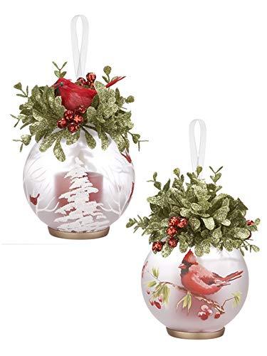 Ganz Cardinal Votive Ornaments Set of 2