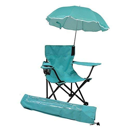 Redmon Umbrella Camping Chair with Matching Shoulder Bag, Aqua