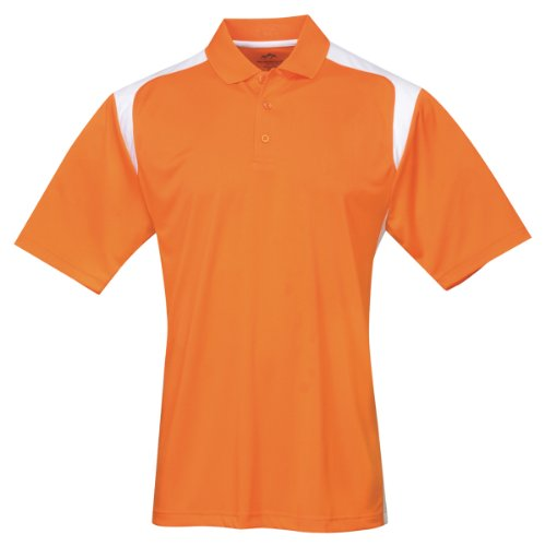 Tri-mountain Mens 100% Polyester UC Knit Polo Shirt. 145TM - ORANGE / (Adult 2xlt Shirt)