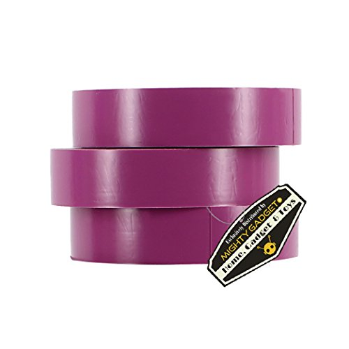 3 Pack of Mighty Gadget (R) Professional Grade UL Listed Purple Color PVC Electrical Tapes with Durable Rubber Based Adhesive, Rated up to 600 Volts and 176 °F - Dimensions: 3/4