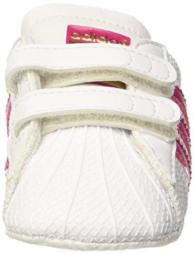 adidas Unisex Baby Superstar Crib Krabbel-& Hausschuhe Elfenbein (Ftwr White/bold Pink/ftwr White)