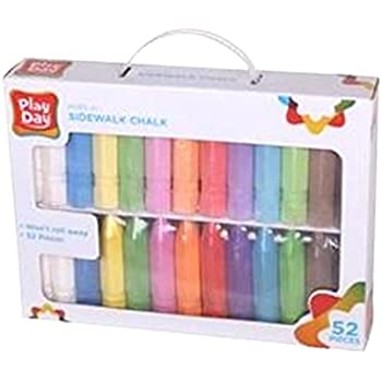 amazon com play day sidewalk chalk 52 pieces toys games