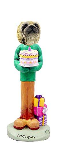 Pekingese Birthday Doogie Collectable Figurine