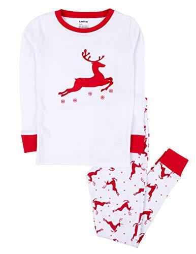 Leveret White Reindeer Pajama 4 Years -