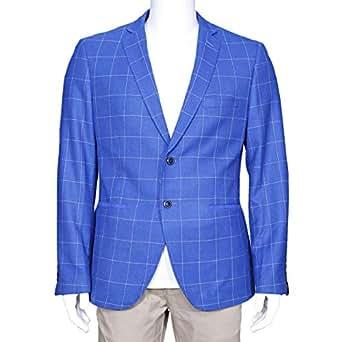 Cavana Blue Mixed Blazer For Men