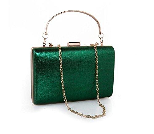 green metallo Spalla Abito in Fatti a donna mano Diamond da Borse sera multicolore in green pelle Borsa 7wqgZ4f