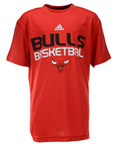 Chicago Bulls NBA Youth Climalite S/S Stack T-Shirt (Large - 14/16, Red) (Chicago Bulls Youth T-shirt)