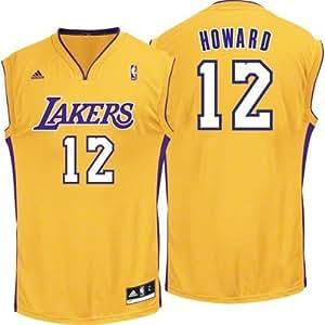 Nba adidas los angeles lakers dwight howard 12 gold mens for Dwight howard adidas shirt