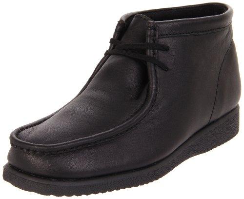 Hush Puppies Bridgeport Chukka Boot ,Black,4 M Big Kid