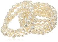 TARA Pearls Set of Six Freshwater Cultured Pearl Stretch Bracelets, 7-8mm, 7in