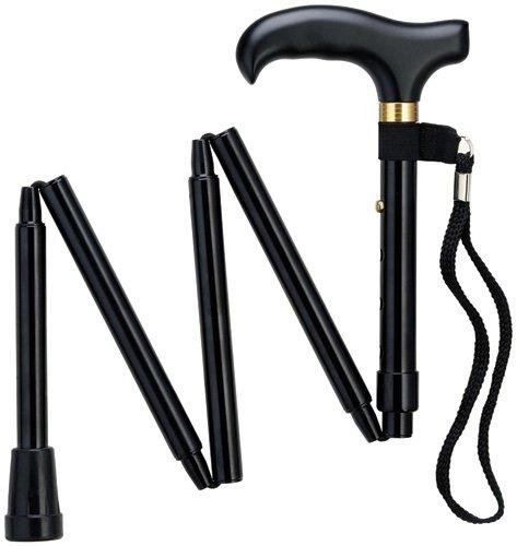 Mini Folding Cane - Travel Cane - Adjustable - Black