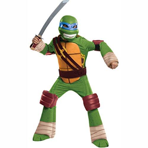 Ninja Deluxe Leonardo Child Costumes (TMNT Leonardo Deluxe Costume Child L Large 12-14 Boy Teenage Mutant Ninja Turtles)
