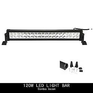 Topcarlight 24inch 120w LED Work Light Bar Flood/spot Combo Beam Lights 4wd SUV UTE Off Road Car Boat Lamps