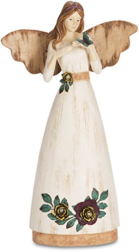 Pavilion Gift Company Simple Spirits 41004 Angel Figurine Holding Butterfly, 9-Inch, Friend