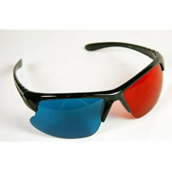 056f1279268f1 3D Glasses Red and Cyan Anaglyph - Classic Plastic Style - YOUTUBE - 1 Pair