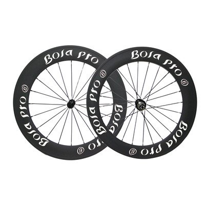 Bola Pro carbon bike wheelset,+/-0.2mm offset,Two Year Warranty,700C 60mm high 25mm wide tubular carbon rim with DT Swiss 350 hub and Sapim Cx ray 20/24 spoke -  Bola Bicycle Co.,Ltd, RDT6