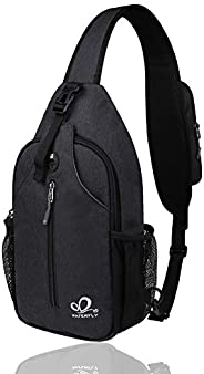 WATERFLY Sling Bag Sling Backpack Crossbody Bag Hiking Daypack for Men Women