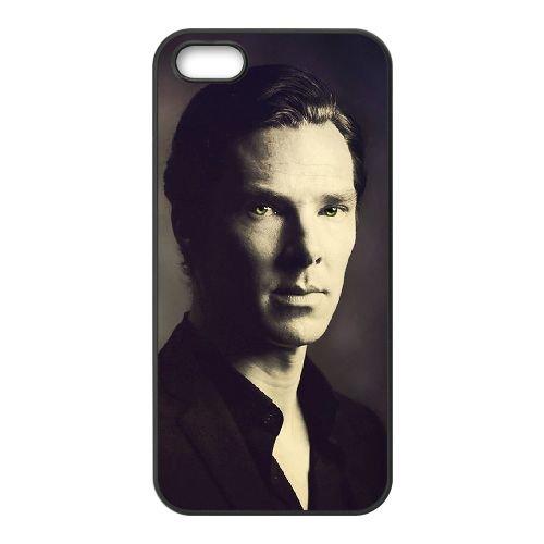Benedict Cumberbatch 016 coque iPhone 4 4S cellulaire cas coque de téléphone cas téléphone cellulaire noir couvercle EEEXLKNBC23526