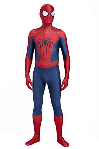3D Printing Film Version The Amazing Spider-Man 2 Halloween Cosplay Costume (X-Small) Red/Blue -
