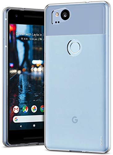 Aeska Google Pixel 2 Case, Ultra [Slim Thin] Flexible TPU Gel Rubber Soft Skin Silicone Protective Case Cover for Google Pixel 2 (Clear)